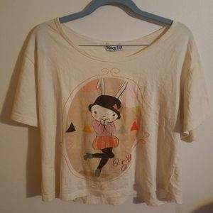Cropped Tshirt Rabbit Top Hat XL